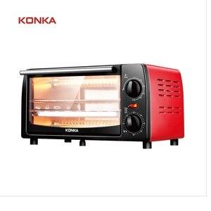 Электрическая духовка KONKA 12L, бытовая техника 1050 Вт, двухслойная мини-печь для выпечки хлеба, маленькая духовка для приготовления пиццы и тор...