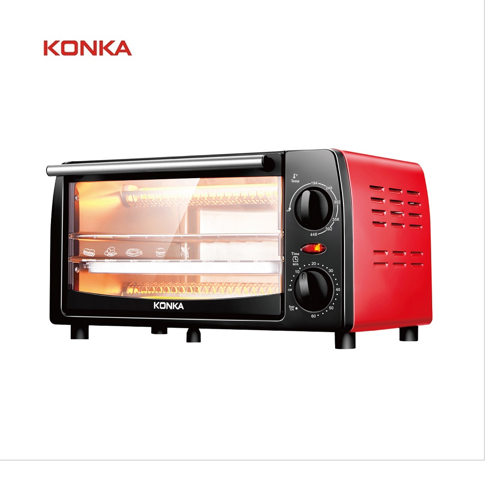 KONKA 12L Electric Oven Household appliances 1050W Mini Oven Double Layer Baking Bread Small Oven Pizza Cake Maker for Kitchen