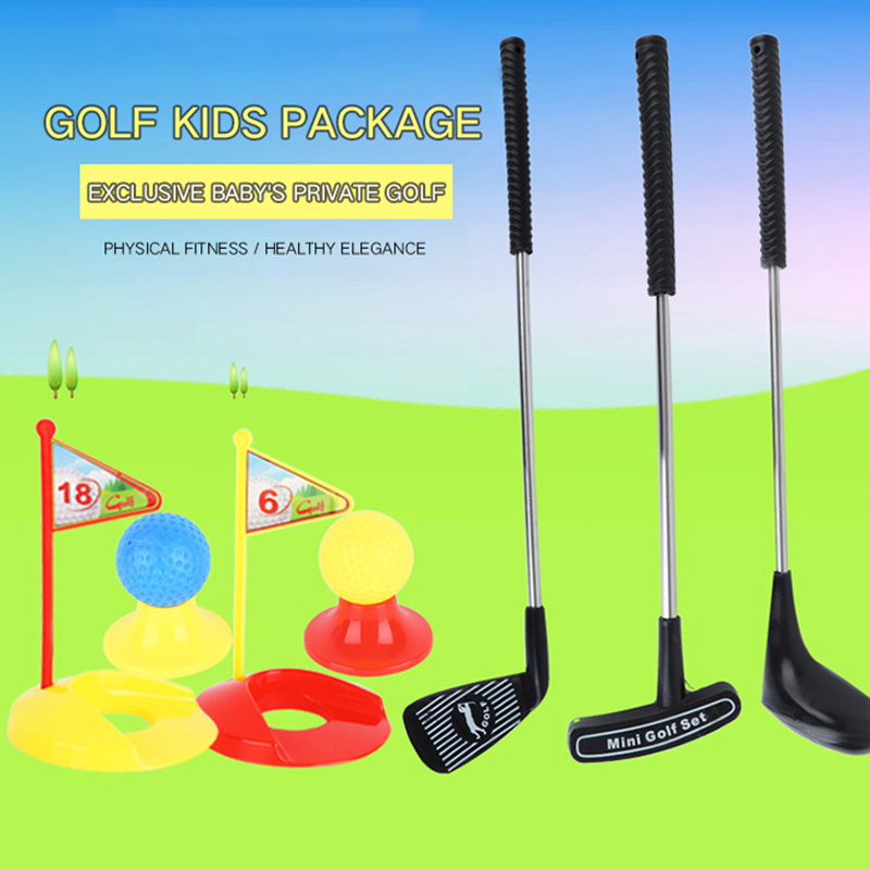 Golf Toy Set Sports Kids Learning Active Parent-child Interaction Outdoor Indoor Play Sport Game For Children Gifts