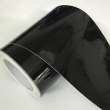 10cm Width Gloss Black Air-Release Vinyl Wrap Roll Glossy Car Body Sticker Wrapping Foil