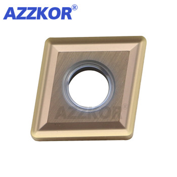 Internal Inserts CNMG120404/CNMG120408-MS NT735 Turning Tools AZZKOR NC Center Lathe For Machining Material Carbide Blades 10pcs