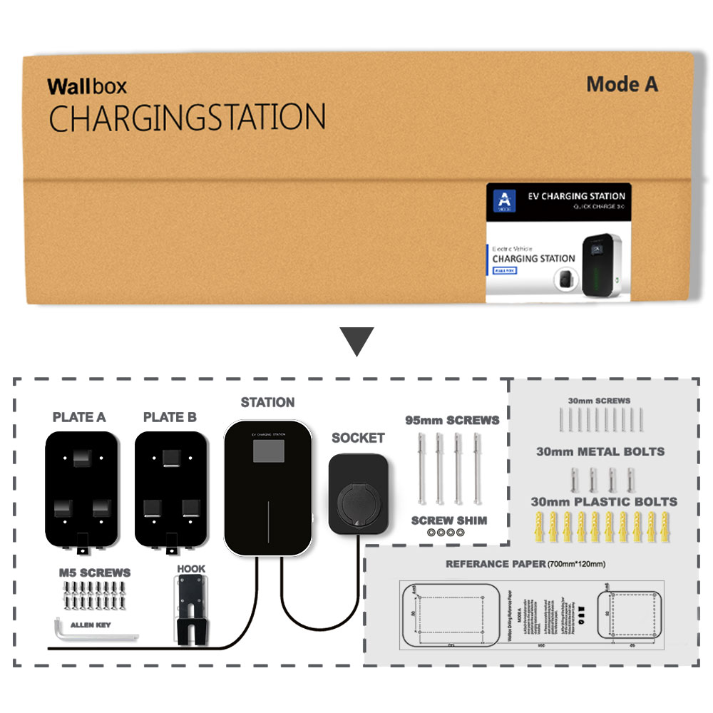 Image 5 - 32A 3Phase EVSE Wallbox EV Charger Electric Vehicle Charging Station Type 2 Socket IEC 62196 2 for Audi MINI Cooper VolkswagenChargers & Service Equipment   -