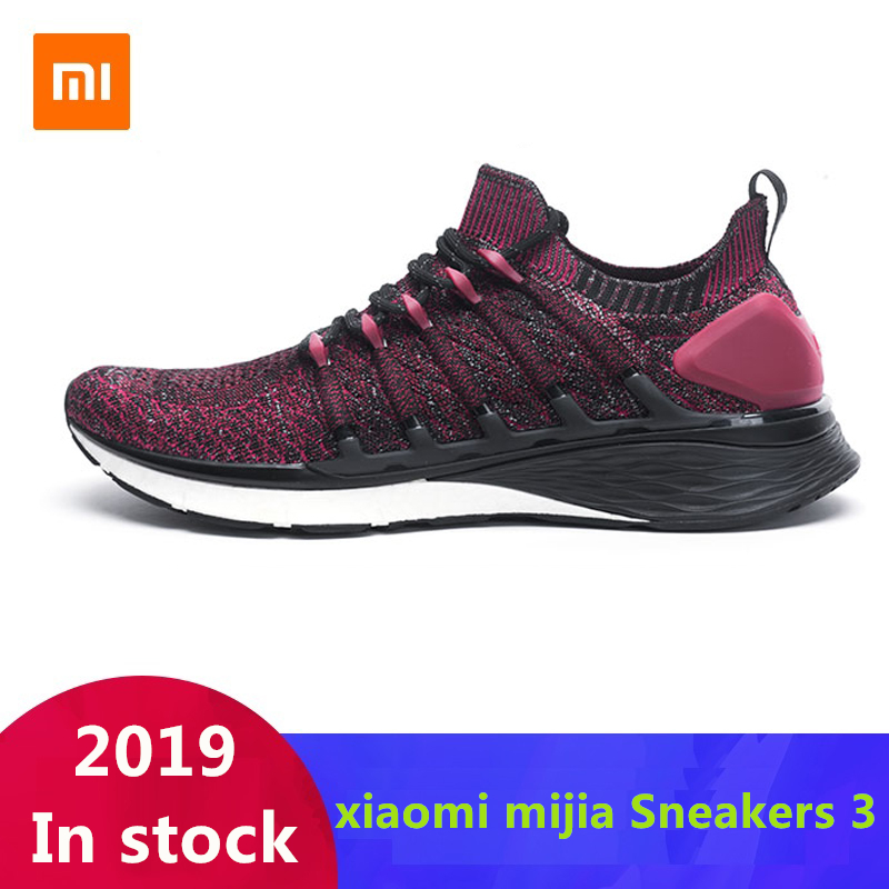 Original Xiaomi Mijia Sneakers 3 Men's Outdoor Sports Uni-moulding 3D Fishbone Lock System Knitting Upper Men Running Shoes