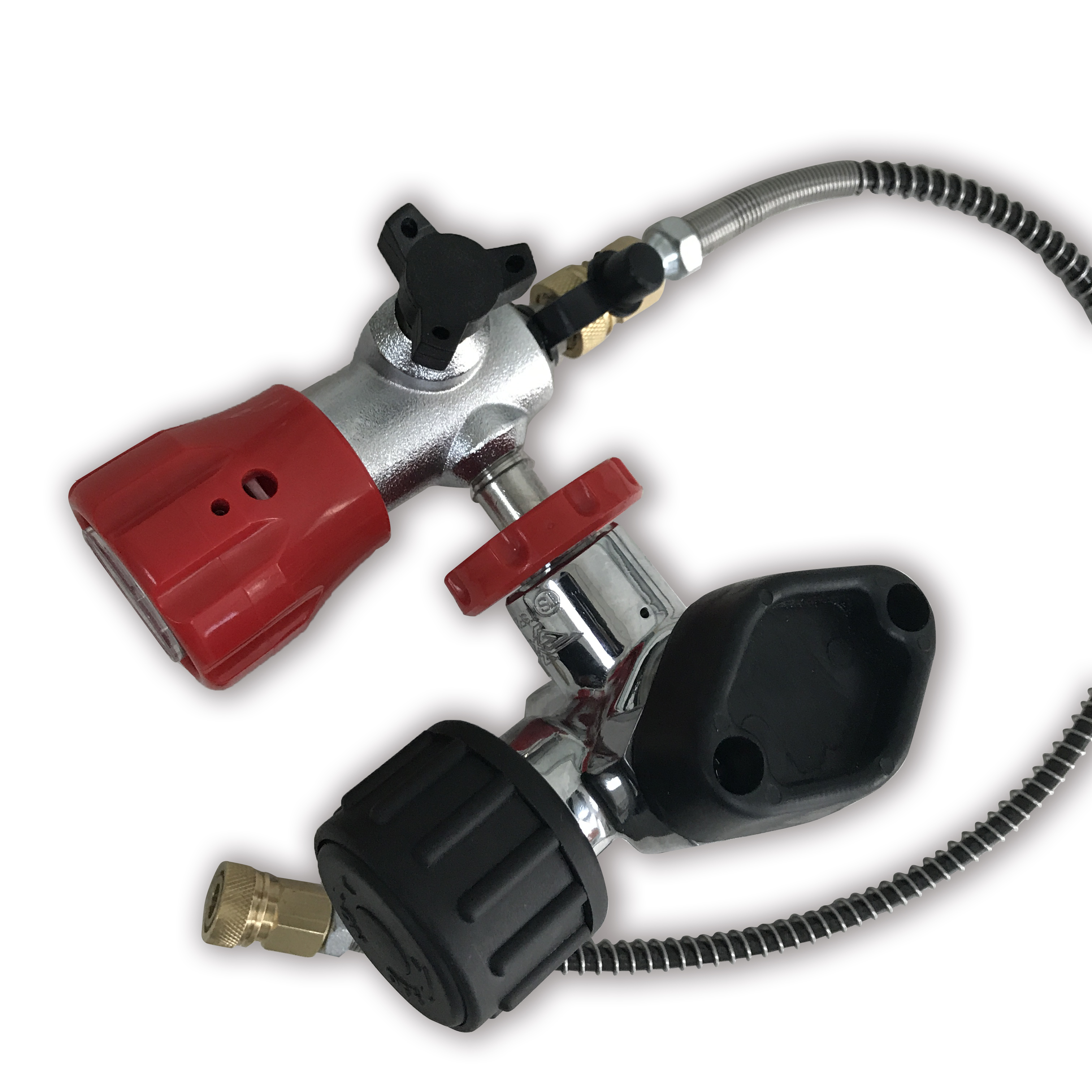 AC201 Pcp Valve&Filling Station Combination For Scuba Diving Tank 300Bar Paintball Tank With Hose For Pcp Air Rifle Acecare