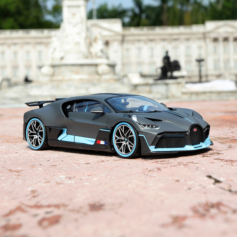 Maisto 1:24 Bugatti Divo Seconds Memorial Roadster Simulation Alloy Car Model Simulation Car Decoration Collection Gift Toy