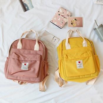 South Korea lovely ins soft bag female student Japanese Harajuku backpack small fresh ulzzang purple backpack