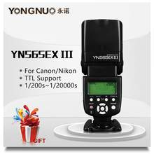 Yongnuo YN565EX III YN565EX Wireless TTL Flash Speedlight for Canon 6D 60d 650d For Nikon D7100 D3300 D7200 D5200 D7000 D750 D90(China)