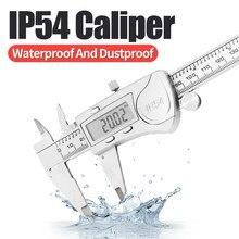 IP54 Digital pinza de Metal Material impermeable y a prueba de polvo 6 pulgadas/150mm electrónica Vernier calibres de micrómetros herramienta de medición