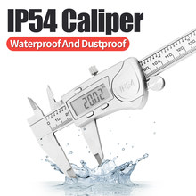 IP54 Digital Caliper Metal Ruler Gauge Stainless Steel Electronic Vernier Calipers Micrometer Depth Measuring Tools 6In/150mm