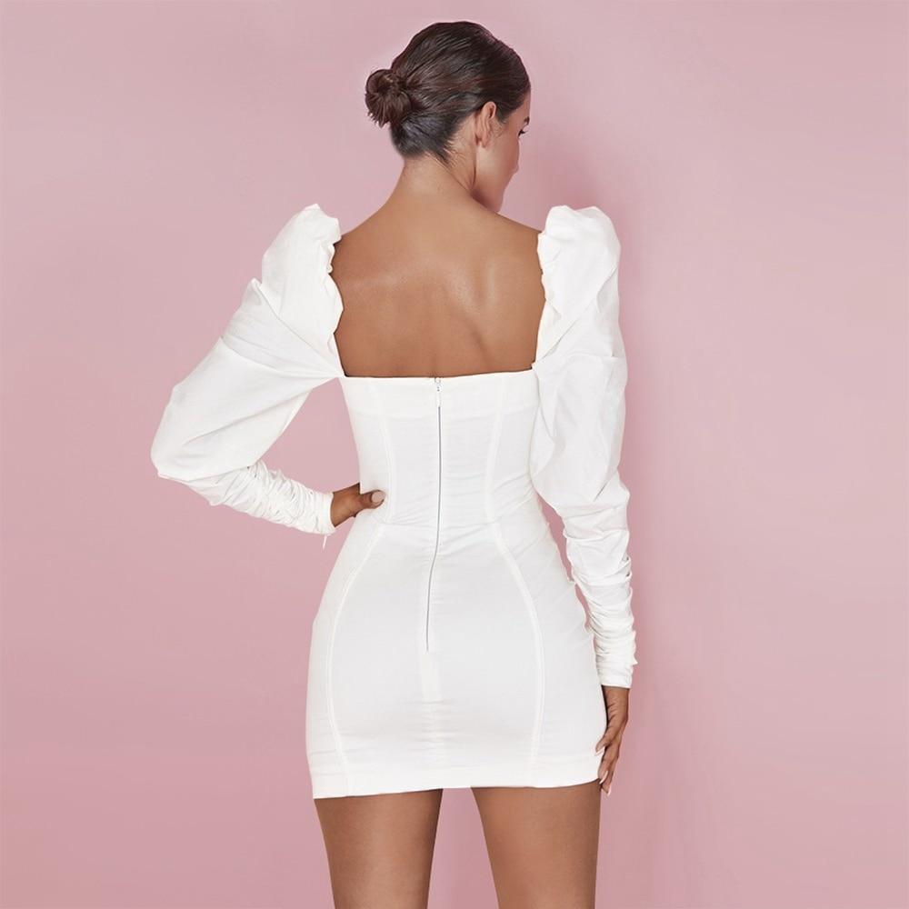 Long HI1066-White Dress Ocstrade