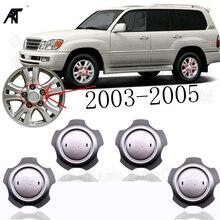 40 adet/grup gümüş jant jant kapağı jant kapağı Lexus LX470 2003 2005 tekerlek jant kapağı yivli