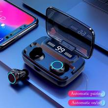 TWS Bluetooth 5.0 Wireless Earphone With 3500mAh Charging Box Deep Bass Earbuds Sport Bluetooth Headsets(China)
