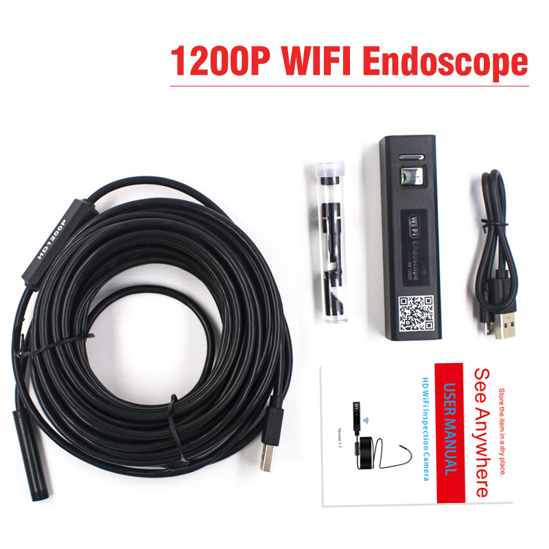 H3b826f4db76d4b1a950d32b08ecf6c29Q 1200P Endoscope Camera Wireless Endoscope 2.0 MP HD Borescope Rigid Snake Cable for IOS iPhone Android Samsung Smartphone PC