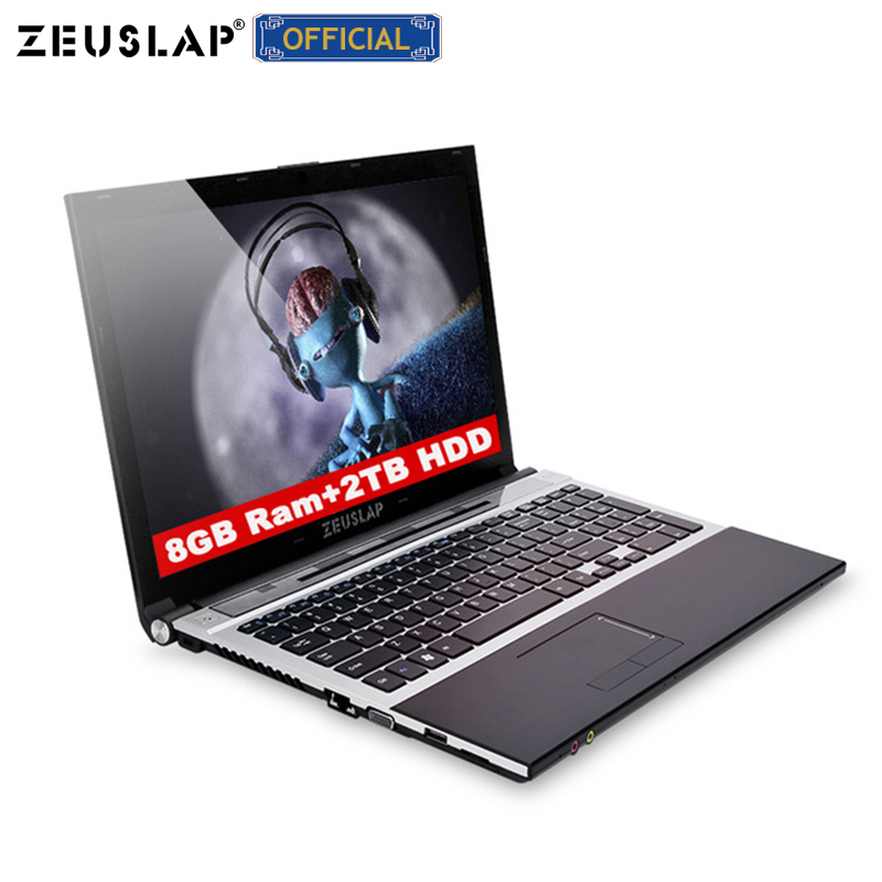 15.6inch 8gb Ram 2tb Hdd Intel Core I7 Windows 10 System 1920x1080p Full Hd Wifi Bluetooth Dvd Rom Notebook PC Laptop Computer
