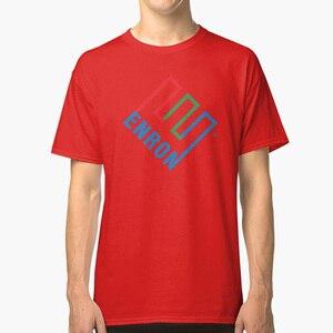 Enron Tshirt - Defunct Company Logo - Corporate Humor Tshirt - Parody Tshirt T Shirt enron corruption defunct company(China)