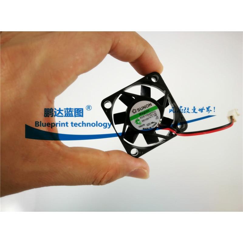 Sunon Maglev Lager KDE1204PFV Fan 40Mm 4Cm 40X40X10Mm Koelventilator 12V 1.1W 7200Rpm 2pin