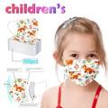 50/100 шт., одноразовые маски для детей, 3 слоя