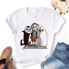 Модная новинка женская футболка с забавным графическим принтом