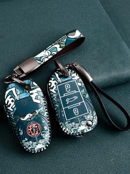 crazy horse leather car key case for peugeot 301 208 3008 5008 408 2008 308 508 2013 2014 2015 2016 2017 2018 2019 accessories Leather Car Key Case Remote Cover for Peugeot 508 SW 308 208 GT Partner 5008 4008 4007 3008 2008 RCZ Holder Keychain Accessories