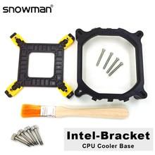 SNOWMAN-Soporte de ventilador para CPU, Sostenedor del disipador térmico para Intel LGA 2011, 775, 1200, 1150, 1151, 1155, 1156, 1366, Base de refrigeración del radiador