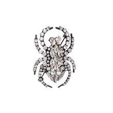 Изысканные модные ювелирные изделия Стразы Кристалл Паук животные