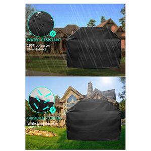 Image 5 - 1pc 190t/210d capa para churrasco anti poeira à prova dweber água weber resistente charbroil grill capa capa de chuva capa para churrasco de proteção redonda