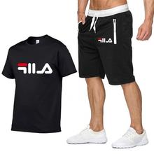 New Fashion Sportsuit and Tee Shirt Set Mens T Shorts + Short Pants Men Summer Tracksuit Casual Brand Shirts 2019