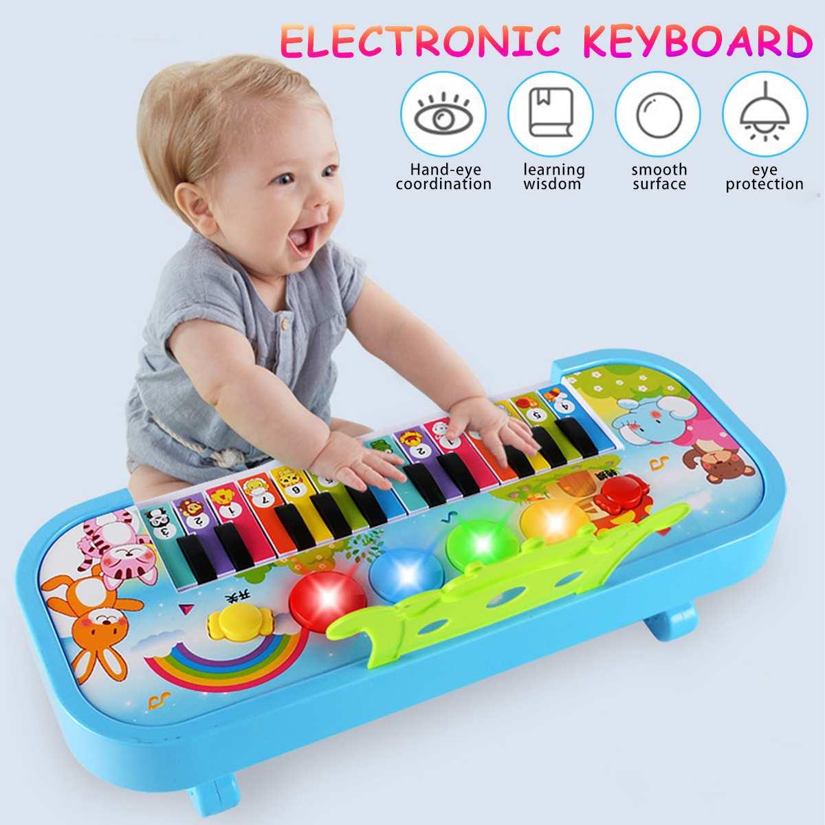 Infant Playing Educational Electronic Piano Baby Toys Children Keyboard Boys Girls Fingers Kids Music 24 Keys Gift Plastic