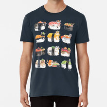 Nekozushi T-shirt Sushi Katten Nekozushi Aquarel Leuke Kawaii Neko Japan(China)