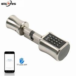 Diy Replacemen Elektrische Duim Turn Euro Anti-Diefstal Smart Wifi Deurslot Cilinder Bluetooth Smart Keyless Lock Met Tt lock App