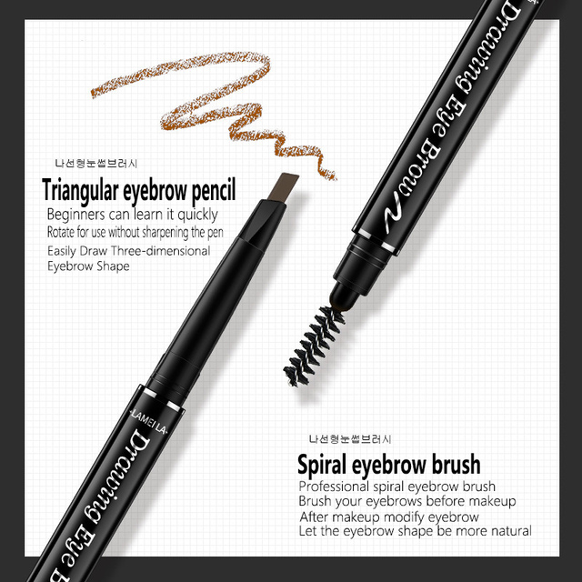 Eye Brow Tint Cosmetics Natural Long Lasting Paint Tattoo Eyebrow Waterproof Black Brown Eyebrow Pencil Makeup Set 4