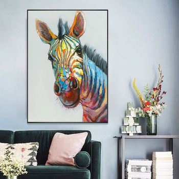 Zebra Modern Minimalist Gorgeous hand-painted Oil Paintings Restaurant Entrance Living Room Bedroom Wall Decorative Painting