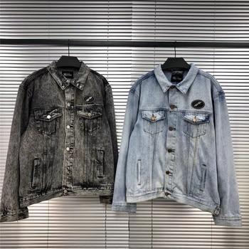 Onesize WELLDONE Denim Jacket Men Women 1:1 High Quality Fashion WE11 Done  Jeans WELLDONE  Jacket