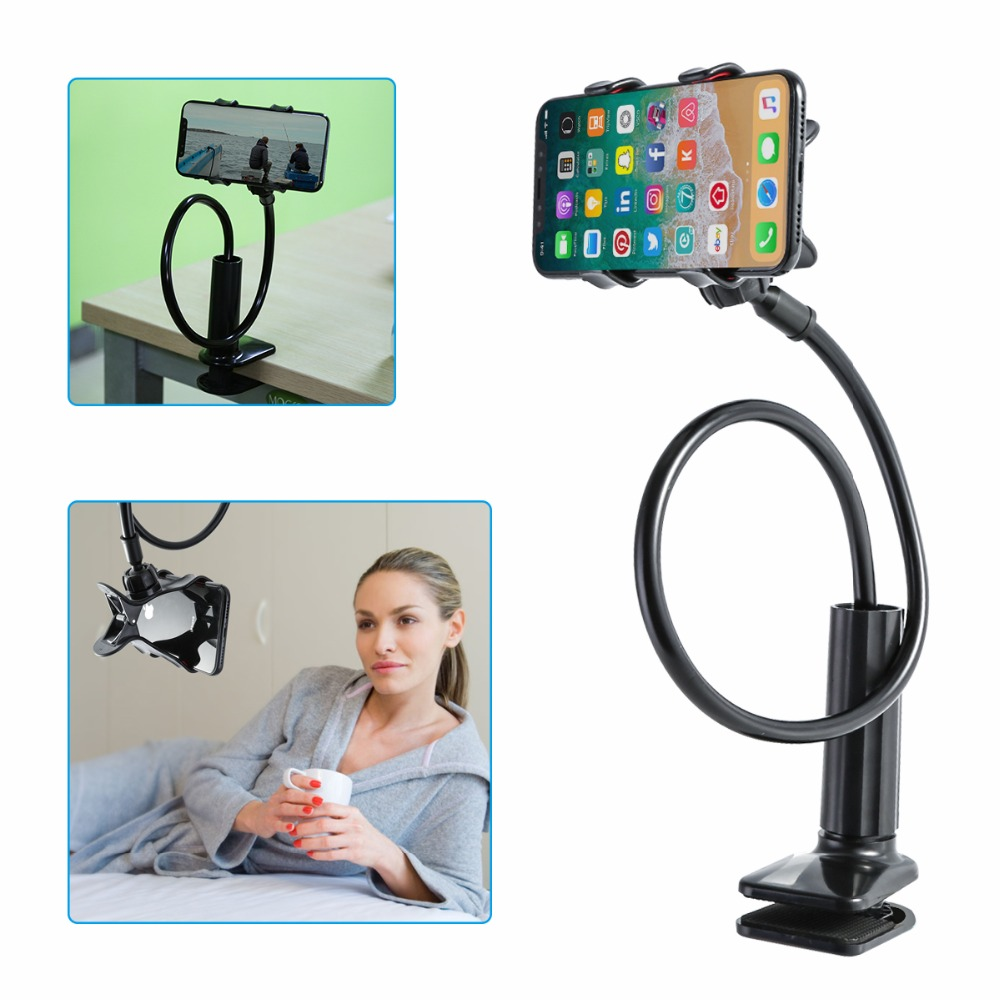 Stretchable Phone Holder 360 Degree Flexible Clip Lazy Bed Desktop Bracket Mount Stand Holder For Mobile Phone Tablets