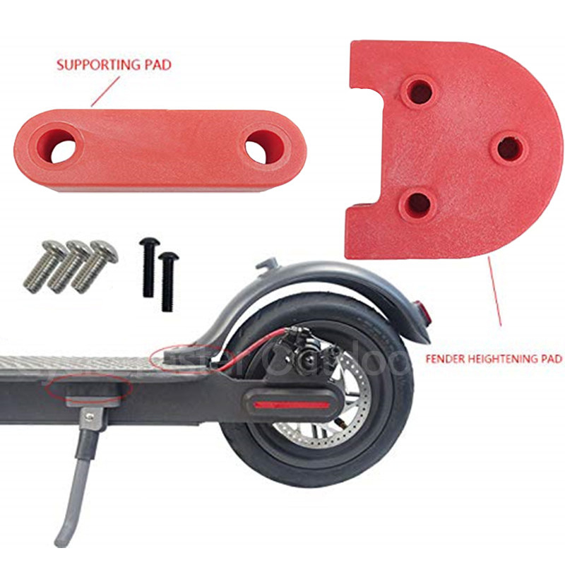 Upgrade 3D Printed Modification Rear Fender Foot Support for Xiaomi M365 Wheel Kit/Foot Plastic Gasket Kickstand Spacer Parts