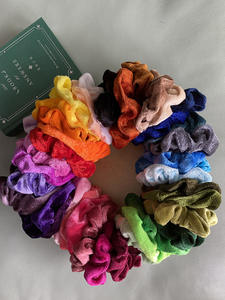 Hair Scrunchie Pack Velvet Chiffon Elastic Bands No Crease Ties for Women Girl Accessories