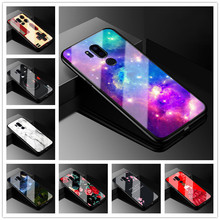 For LG G7 ThinQ Case 6.1 Tempered Glass Hard Back cover For LG G7 LGG7 Case G710 Phone cases for LG G 7 G7 Plus G7+ Covers