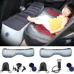 Yastık uygun seyahat şişme mühürlü katlanabilir arka koltuk piknik aralığı ped araba yatak manuel yumuşak yatak kamp hava pompası