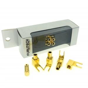 Image 1 - Furutech 4ゴールドメッキ銅4ミリメートルバナナプラグコネクタリア24金オーディオアンプスピーカープラグ銅コネクタ