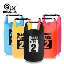 IKSNAIL 2L Waterproof Water Resistant Dry Bag Sack Storage Pack Pouch Swimming Outdoor Kayaking Canoeing River Trekking Boating
