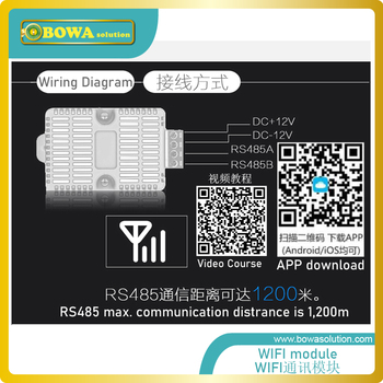 Wifi module establish communication between RS485 on the PCB board  and mobile phone by dowloading APP, easy operation 1