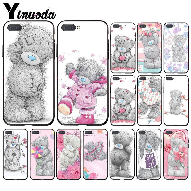Yinuoda Lovely Teddy Bear Phone Case For Huawei Honor 8X 9 10 20 Lite 7A 5A 7C 10i 20i View20