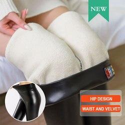 Hot Vrouwen Pu Leer Potlood Leggings Warme Fleece Gevoerde Winter Stretch Slim Broek Cgu 88
