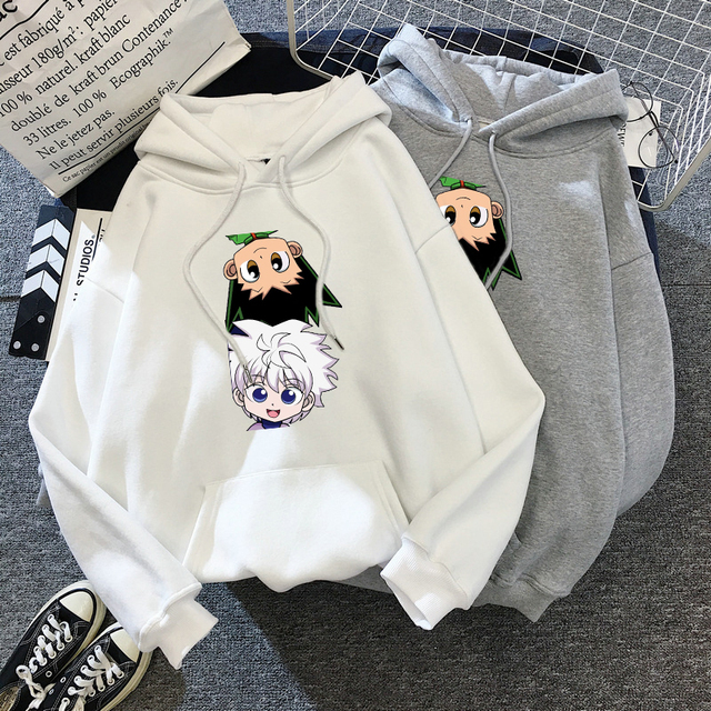 Hot Japanese Anime Hunter x Hunter Hoodies Killua-GON FREECSS Printed Top Women Kawaii Clothes Graphic Casual Hooded Streetwear 2
