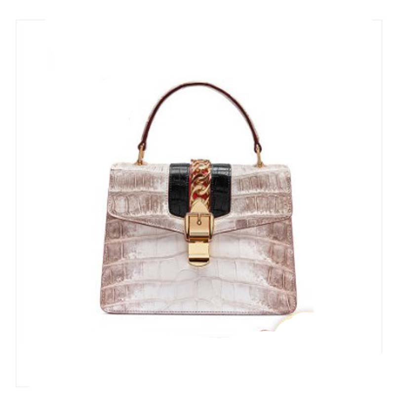 gete crocodile leather women handbag new fashion lady handbag light luxury hand carry bag large capacity foreign style lady bag