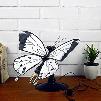 Iron Art Personality Archaize Butterfly Tubing Lamp Bar Dining Room Diy Home Sculpture Decorative Desk Ornaments M4460