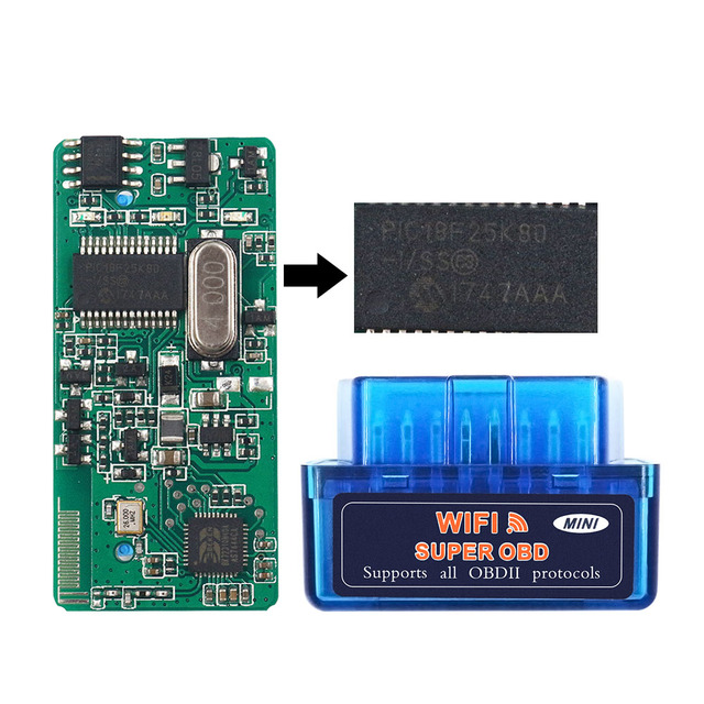 OBDII ELM327 1.5 ELM 327 V1.5 25K80 OBD 2 Diagnostic Scanner WI-FI ELM327 WIFI For IOS Adapter Scanner ELM327 OBD II Code Reader