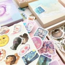 Mohamm 200 pcs Boxed Hand Account Sticker Creativity Paper Sticker Package Children Student Sticker Stationery Decoration
