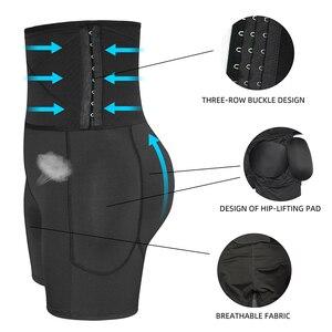 Image 4 - גבוהה מותן בטן בקרת תחתוני בטן ירך כרית משרד בקרת Shapewear גוף Shaper מתאמן באט בגד גוף שלל אט Enhancer