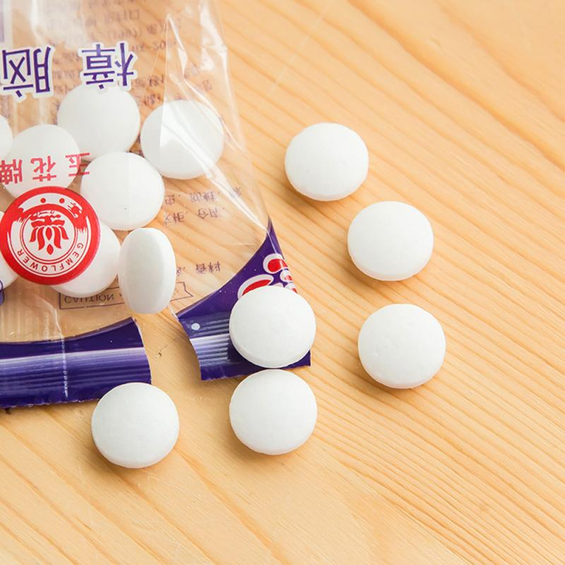 20pcs/bag Natural Mothballs Anti-mold Moth Repellent Camphor Ball Clothing Insect-resistant Toilet Deodorant Moth Aromatic Balls